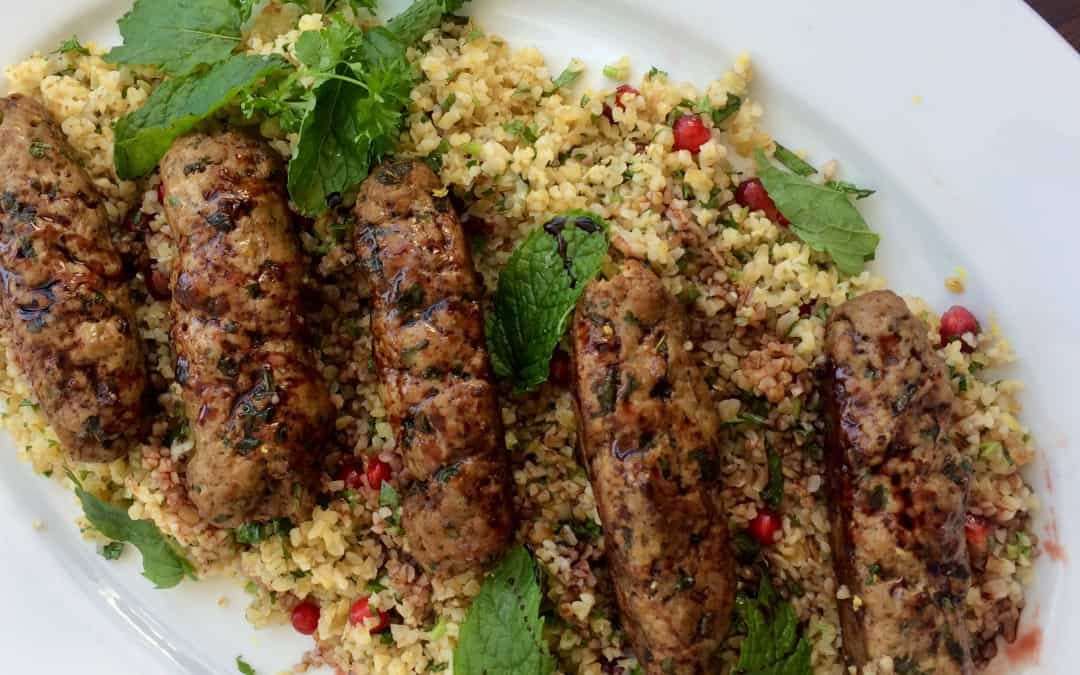 Lamb Koftas with Tabbouleh salad
