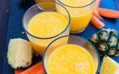 Carrot & pineapple chilled soup