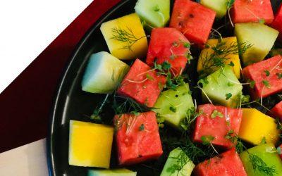 Watermelon and mango salad
